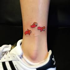 ponyo inspired tattoo on the ankle tattoo artist jay shin