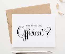 To My Groom On Our Wedding Day Card Amazon Com Will You Be Our Officiant Card 1 Greeting Card And