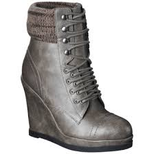 target womens boots grey mossimo kalare wedge ankle boot grey target