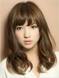 asian shoulder length hairstyles for women with side bangs