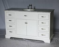 Shaker Style Bathroom Cabinets by 56 Inch Single Sink Bathroom Vanity Shaker Style White Color 56