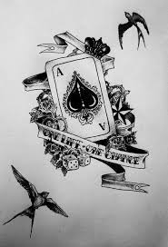 playing cards tattoo designs tattoodia