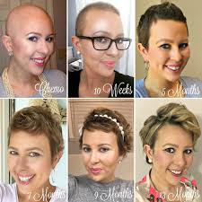 post chemo hairstyles 1 year hair growth chemo hairless my cancer chic my cancer