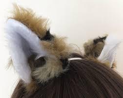 Coyote Halloween Costume Furry Ears Etsy