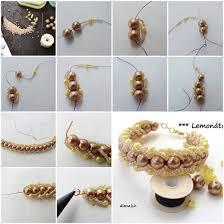 pearls bracelet diy images How to make beads and pearls bracelet step by step diy tutorial jpg