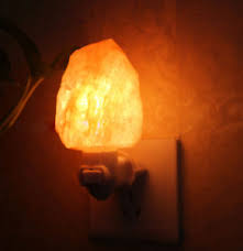 crystal plug in night light himalayan glow salt rock night light crystal l air purifier eu uk