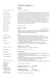 Stay At Home Mom Resume Examples by Chefs Resume Resume Cv Cover Letter