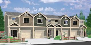 Duplex House Plans For Narrow Lots Plan 38016lb Duplex With Matching 20 U0027 Wide Units Double Garage