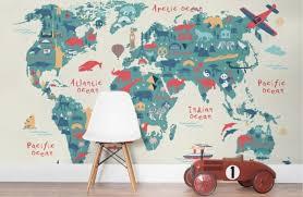 weltkarte für kinderzimmer wandmalerei kinderzimmer 21 ideen wie sie eine ganz spezielle