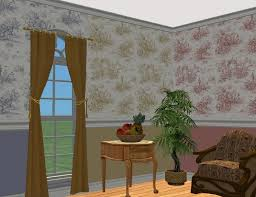 mod the sims french country wallpaper