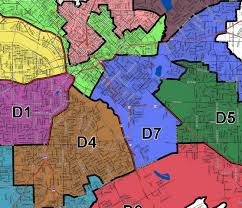 Dallas City Council District Map by Dallas Redistricting 2011 2011