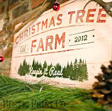 christmas tree farm sign wood holiday sign rustic country home