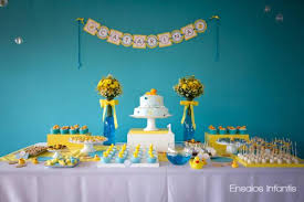 Kara s Party Ideas Yellow and Blue Rubber Duckie 1st Birthday