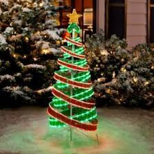 outdoor ribbon shining lighted spiral christmas trees artificial tree sculptures