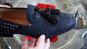 men u0027s christian louboutin tassilo flat glitter loafers review