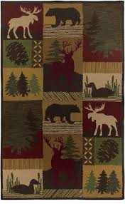 Rustic Area Rugs Southwestern Lodge Country Area Rug Rustic Area Rugs By Rugpal
