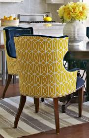 Dining Armchairs Upholstered Yellow Upholstered Dining Chair With Regard To Motivate Clubnoma Com