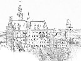 good neuschwanstein castle coloring page with castle coloring