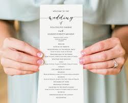 diy wedding ceremony program wedding programs wedding templates and printables