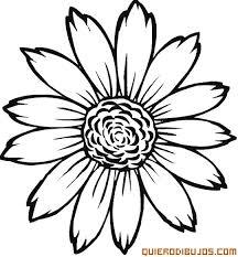 colorea esta flor