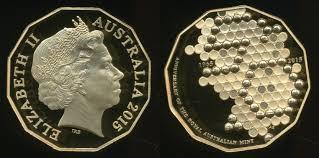 50th anniversary gold plate australia 2015 fifty cents 50c elizabeth ii 50th anniversary