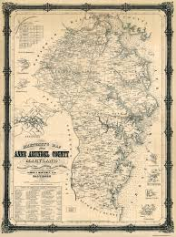 Chesapeake Bay Map Old County Map Anne Arundel Maryland Landowner 1860