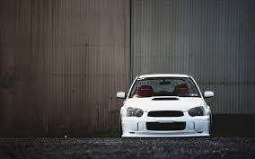 stanced subaru wallpaper subaru impreza wrx sti tuning white car 7028339