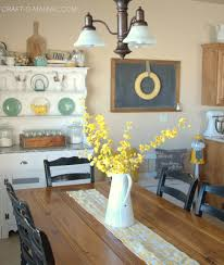 shabby chic kitchen decor with nice dining table cncloans
