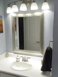 bathroom lighting over mirror home design