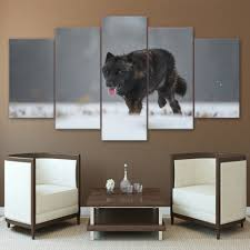 Art For Living Room by Online Get Cheap Black Wolf Pictures Aliexpress Com Alibaba Group