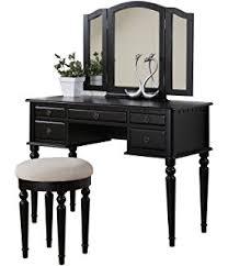 Antique Vanity Table With Mirror And Bench Amazon Com Powell Antique Black With Sand Through Terra Cotta
