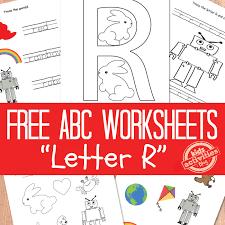 letter r worksheets free kids printable