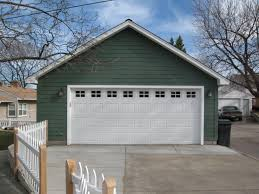 Small Garage Plans Outdoor Ideas Excellent Double White Garage Doors For Two Car As