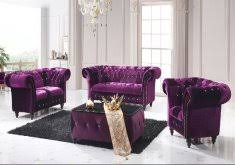 purple settee sofa modern style home design ideas