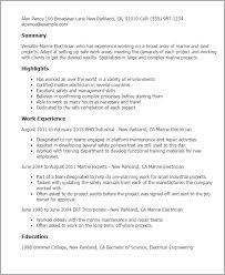 Electricians Resume Template Marine Electrical Engineer Sample Resume 5 Uxhandy Com