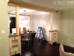Living Room And Dining Room Divider Craftsman Style Room Divider Columns Added To Diy Living Room