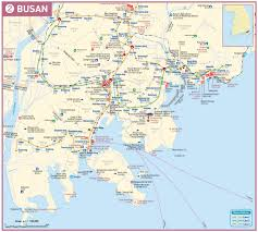 pusan on map busan map in look at korea