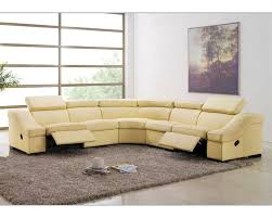 Sectional Reclining Sofas Leather Leather Reclining Sectional Sofa Set Esf8021