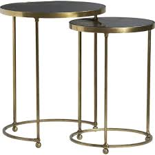 crate and barrel nesting tables set of 2 moreno nesting tables in side coffee tables crate and