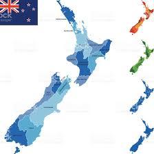 Map New Zealand New Zealand Map Stock Vector Art 464493624 Istock