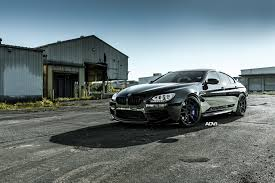 custom bmw m6 sinister looks of bmw m6 gran coupe with purple brakes and black