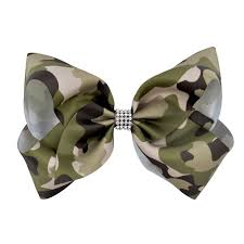 camouflage ribbon 6pcs 8inch large camouflage ribbon hair bows barrettes hair