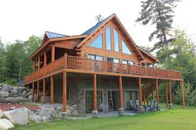 log cabin house white mountain rentals home