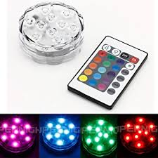 binzet ir remote controlled rgb submersible led