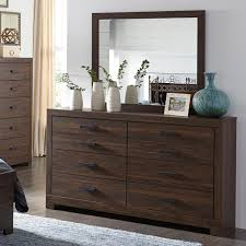 Bedroom Dresser Mirror Signature Design By Arkaline Modern Rustic Dresser