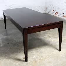 library style dark espresso stained maple dining table vintage