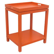tray top end table good price adds pop of color good reviews can be returned locally