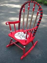 baseball chair and ottoman set kids baseball chair and ottoman best kids wooden rocking chair