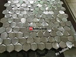 metal wall tiles kitchen backsplash 3d mosaic silver metallic mosaic tiles backsplash smmt109 for