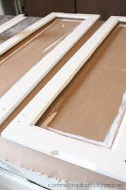 How To Add Glass To Cabinet Doors Confessions Of A Serial Doit - Glass panels for kitchen cabinets